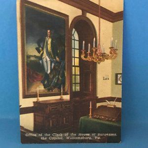Office of the Clerk at House of Burgesses VA Card